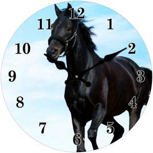 black horse clock