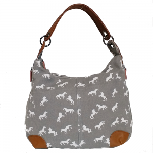 hobo horse shoulder bag grey