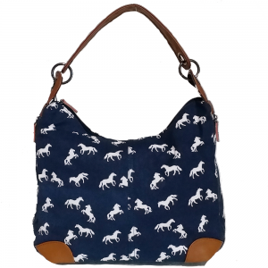 Hobo Horse Shoulder Handbag Navy