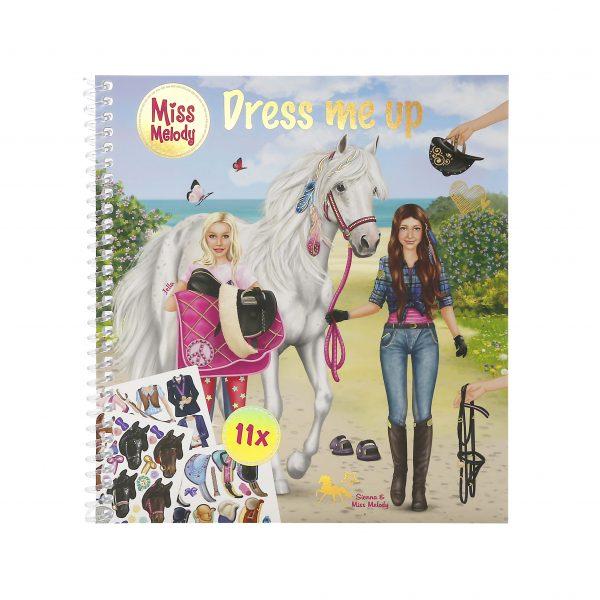 Miss melody dress me up sticker book
