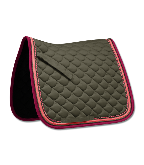 olive saddle pad