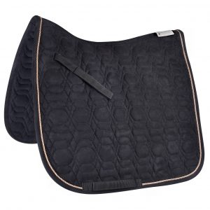 black / Rose Gold saddle pad