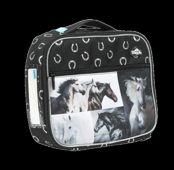 B&W Horse Lunch Box
