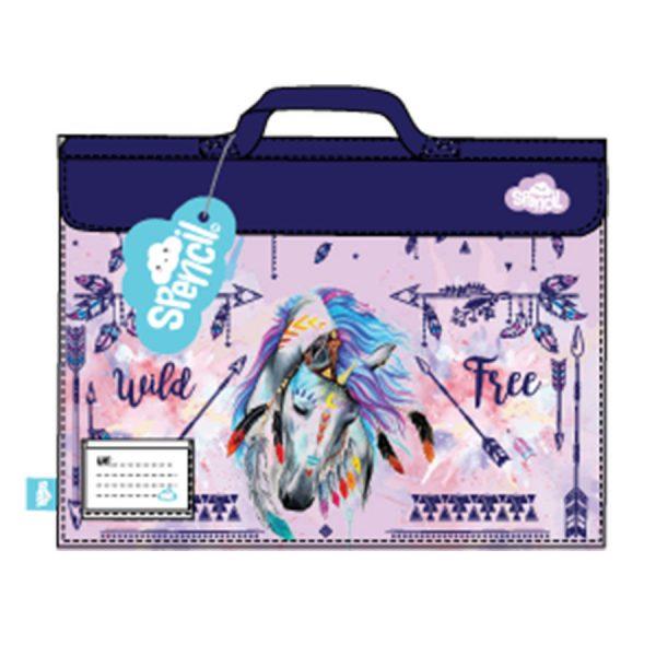 dreamcatcher horse library bag