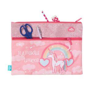 rainbow unicorn A4 PENCILCASE